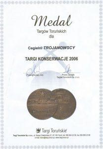 Zdobyliśmy złoty medal za nasze cegły na XI Targach Konserwatorskich w Toruniu