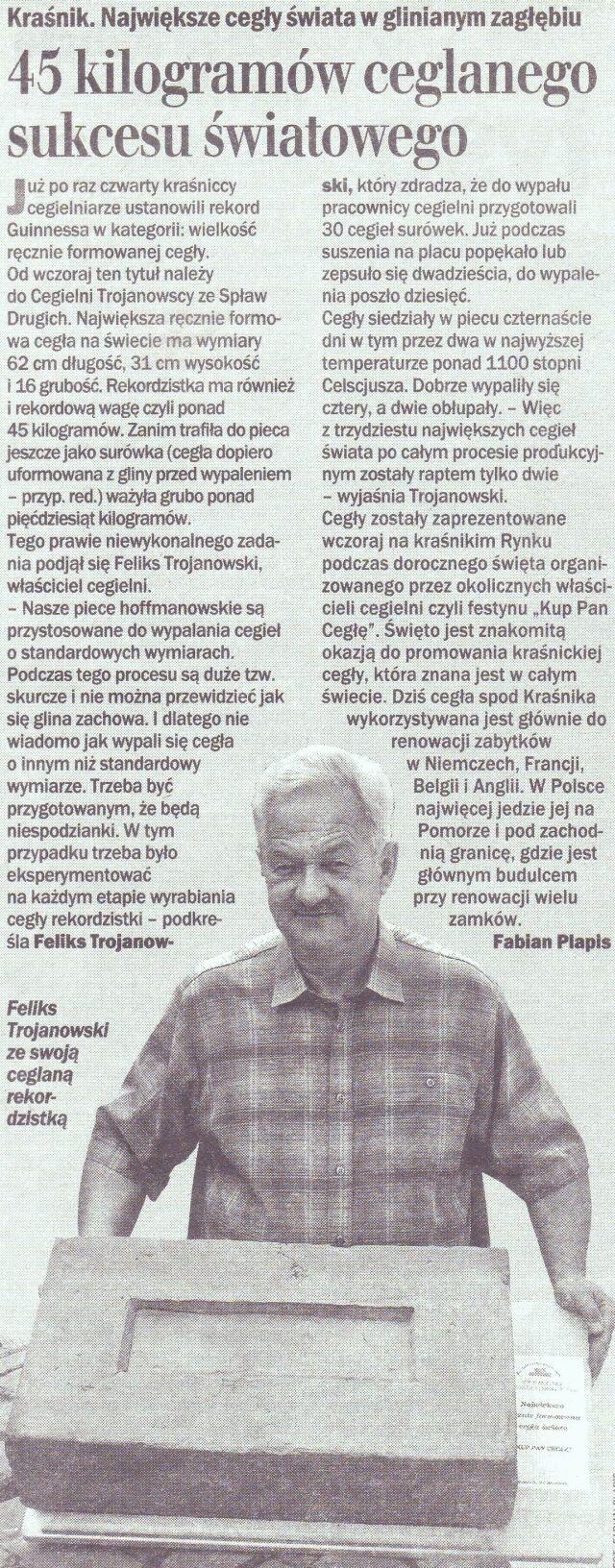 """Dziennik Lubelski"" Nr 194, 21 Sierpień 2006"
