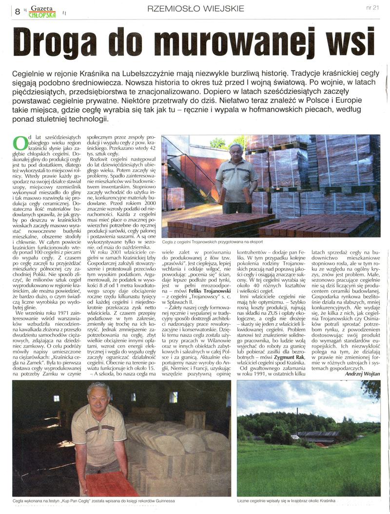 """""""Gazeta Chłopska"""" Nr: 21, 28 Czerwiec 2009"""