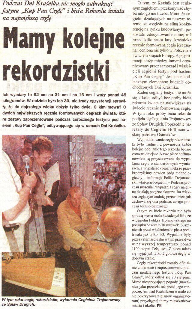 """""""GŁOS-Gazeta Powiatowa"""" Nr 16, 30 Sierpień 2006"""