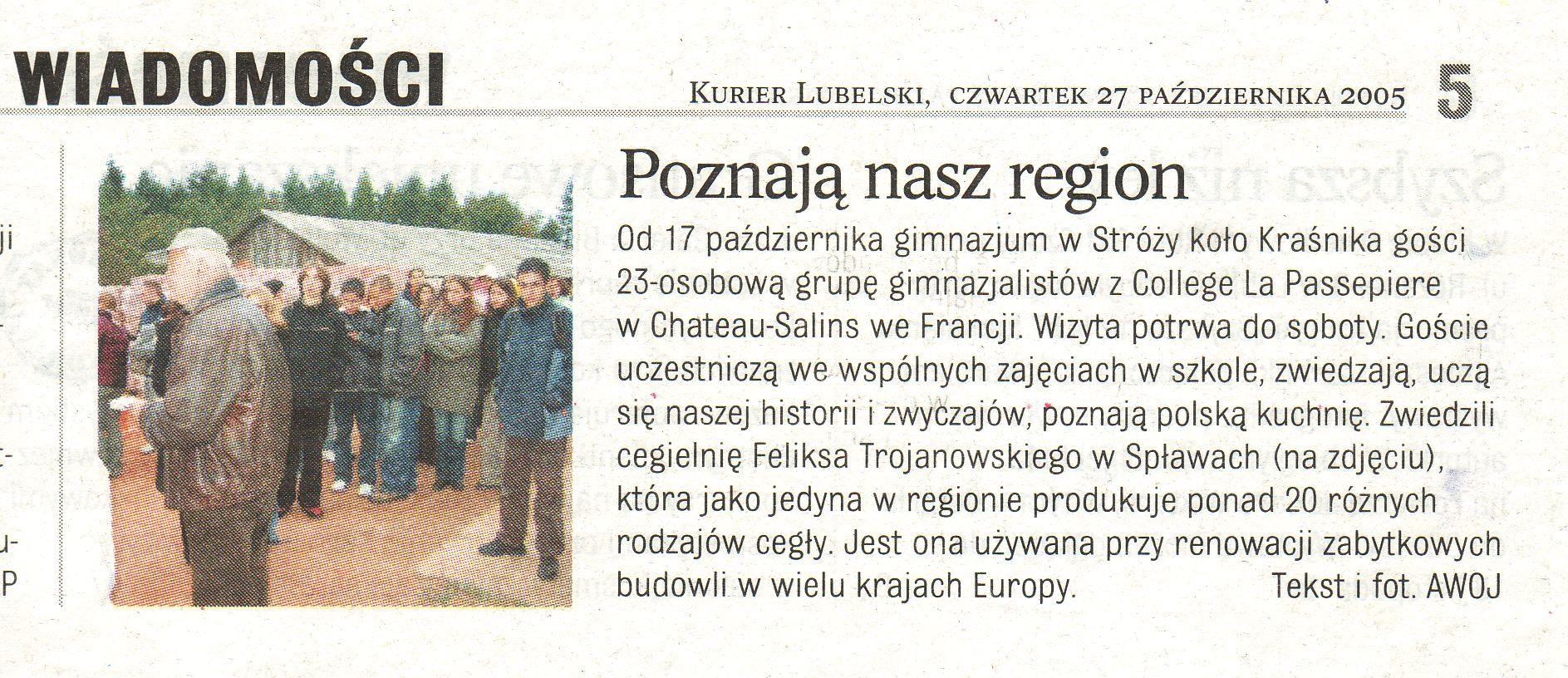 """Kurier Lubelski"" 27 Październik 2005"