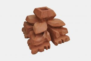 """""""Kwiaton"""" ceramiczny ręcznie wyprodukowany w manufakturze Cegielnia Trojanowscy"""