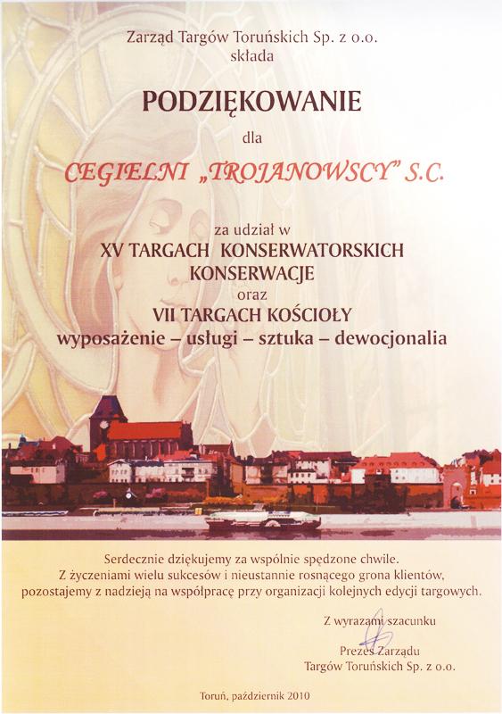Wzięliśmy udział w XV Targach Konserwatorskich w Toruniu Konserwacje oraz VII Targach Kościoły wyposażenie, usługi, sztuka i dewocjonalia