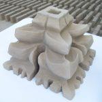 Kwiaton ceramiczny ręcznie zrobiony elewacyjny
