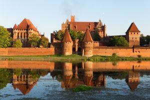 Castle in Malbork - used our standard brick, Gothic, and large and small German women