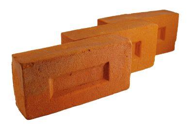 Cegły Standardowe Typowe Tradycyjne Staropolskie Palcowe Licowe Elewacyjne Pomarańczowe Ręcznie Formowane
