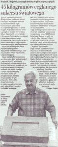 Artykuł gazeta dziennik lubelski 2006 największa cegła świata rekord guinnessa