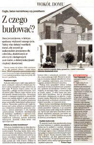 Dziennik Wschodni środa 29 października 2003 warto budować z cegły ręcznie formowanej