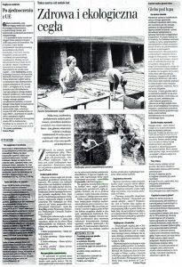 dziennik wschodni sierpień 2003 ekologiczna zdrowa manufaktura ręcznie robiona cegła płytka dekoracyjna