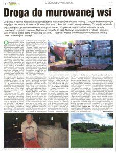 Artykuł gazeta chłopska najlepsza cegła na rekonstrukcję zabytków