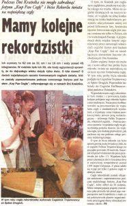 Gazeta artykuł powiatowa 2006 duże cegły największe cegły na świecie rekord Cegielnia Trojanowscy