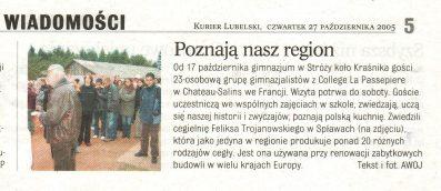 Gazeta kurier lubelski 2005 goście w cegielni trojanowscy różne cegły