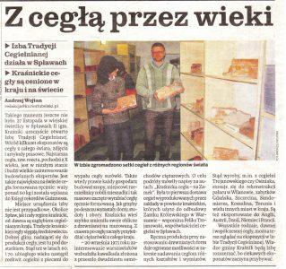 Gazeta kurier lubelski 2010 cegła tradycyjna cegła ręcznie produkowana