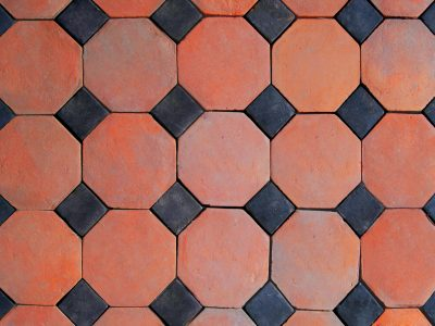 Płytki ceglane kwadraty i ośmiokąty czerwone dekoracyjne ręcznie produkowane w Cegielni Trojanowscy