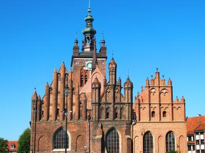 Kościół św Katarzyna Gdańsk Cegły Romańskie Postarzane