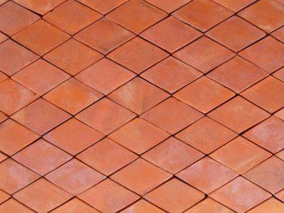 Chodnik ceglany płytka ceglana romb kolor melanż realizacja Gdańsk