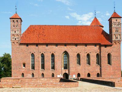 Zamek Biskupów Warmińskich w Lidzbarku Warmińskim Cegła Gotycka Klasztorna