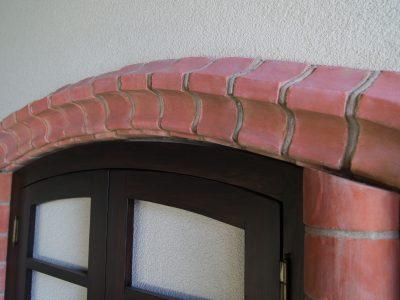 Obrzeże okna drzwi ceglane ceramiczne ręcznie formowane w Kraśnik manufaktura Cegielnia Trojanowscy