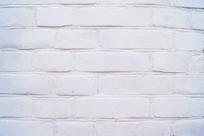 Brick facade white