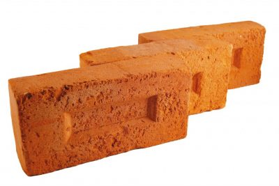 Brick facade antiqued orange