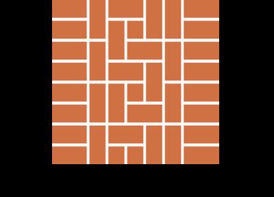 Układ diagonalny 2 płytek ceglanych podłogowych
