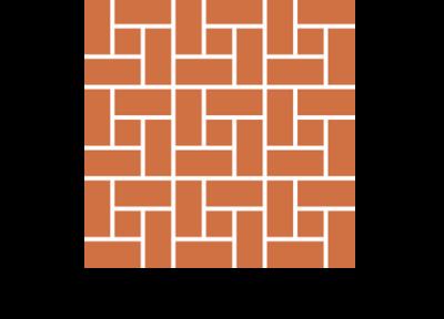 Układ diagonalny płytek ceglanych podłogowych