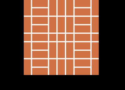 Układ drabinka płytek ceglanych podłogowych ręcznie formowanych manufaktura cegielnia trojanowscy