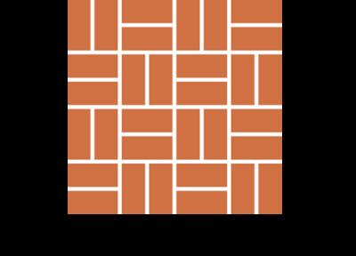 Układ naprzemienny płytek ceglanych podłogowych ręcznie formowanych manufaktura cegielnia trojanowscy