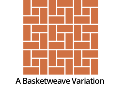a basketweave variation handmade floor tiles