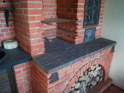 barbecue grill place handmade brick floor tiles from producer brickyard trojanowscy
