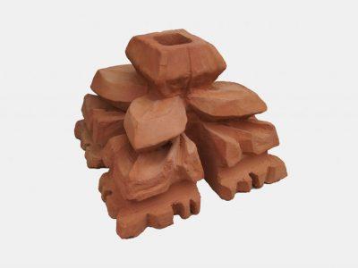 ending shaped brick handmande crafted by hand producer polish brickyard trojanowscy