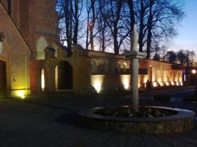 english church brick red orange cherry refurbished by handmade brick