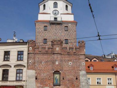 historical gate lublin refurbished form handmade brick producer poland brickyard