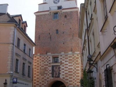historical gate restored refurbished from hand moulded brick from producer manufactory brickyard trojanowscy poland
