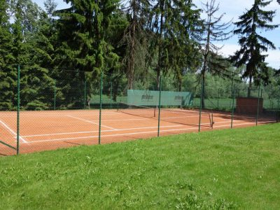 how to build tennis court brick powder and milled clay