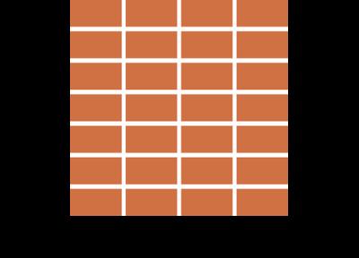 paralell Handgeformte Fußbodenplatten
