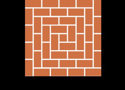 rechteke 3 Handgeformte Fußbodenplatten