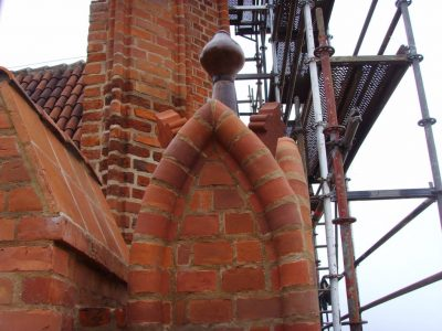 refusbished historic building church brick handmade producer manufacturer brickyard trojanowscy