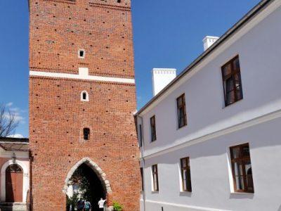 renew revitalized gate orange red cherry handmade brick from brickyard trojanowscy