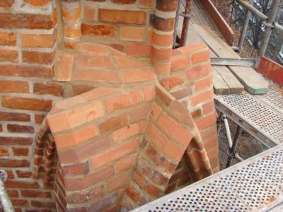 shaped bricks for church restoration poland handmade glazed manufaturer brickyard trojanowscy