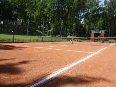 tennis court brick powder how to build