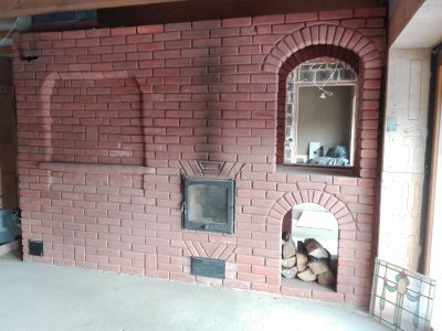 decorative brick fireplace lublin hand made trojanowscy poland