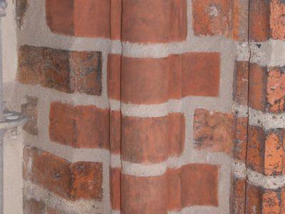 Ceramic shapes brick on reconstruction monuments churches castles producer brick factory Trojanowscy poland