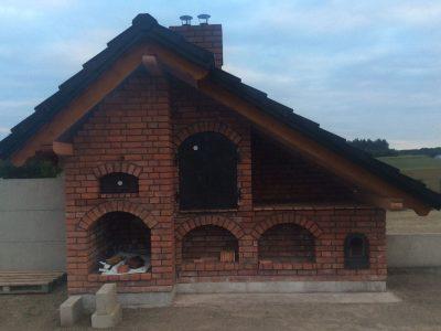 Handgefertigte Ziegel traditionelle Kirsche Vor die Grill Hand geformte Ziegelwerk Werkstatt Trojanowski polen