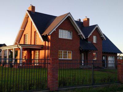 Ziegel Handgemacht Rot Fassade Zaun Haus Werkstatt Ziegel Ziegel Fabrik Trojanowscy Polen