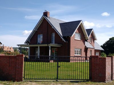 brick handmade red facade fence house workshop bricks brick factory trojanowscy poland