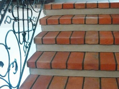 brick on staircase to floor manufacture Living room brickyard Trojanowscy poland