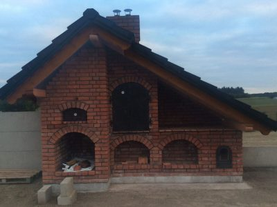 handmade brick traditional cherry facing the grill hand molded brick factory workshop Trojanowscy poland