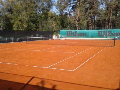 kort tenisowy mączka ceglana glinka