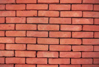 alt flach mit Ziegelstein Fassade rot